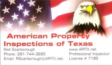 American Propoerty Inspections of Texas